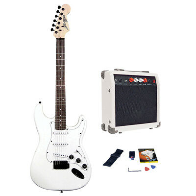 Johnny Brook JB402 Standard Guitar Kit with Coded Combo Amplifier White 20W
