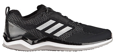 8a4a4ced439e Mens Adidas Speed Trainer 3 Black Athletic Training Baseball Shoes Q16536  9-15