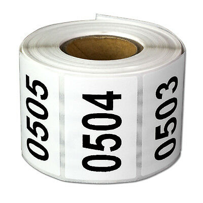 Consecutive Numbers Labels Inventory Control Self Adhesive 0500 to 1000 Stickers