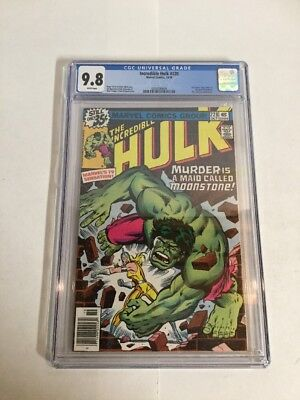 Incredible Hulk 228 CGC 9.8 White Pages First Appearance Of The New Moonstone