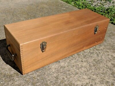 Antique Vintage Wood Tool Storage Box with Handle and Divider
