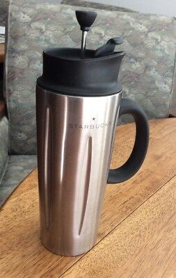 9133a30ddbe 2003 Starbucks Barista 16oz Stainless Steel Solo French Press Coffee Travel  Mug