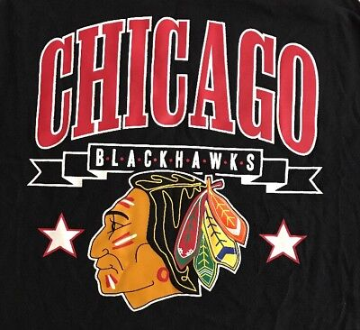 Chicago Blackhawks Nhl Black Sleeveless Tank Top T Shirt Mens Medium Euc M