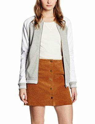 New Look Baseball, Chaqueta para Mujer (40|Gris (Mid Grey))