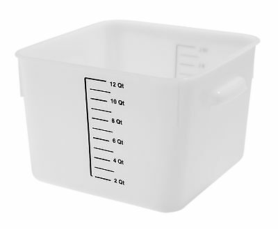 Rubbermaid Commercial Space Saving Food Storage Container, 18 Quart, Whit.