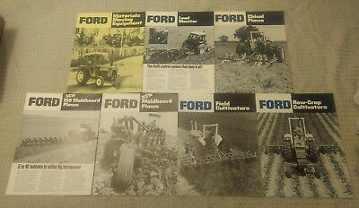 Lot Of 7 Ford implement Brochures