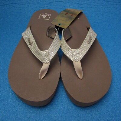 1faeb2f2d616 NWT WOMEN S REEF Natural Tropic (Sparkle) Flip Flops Size 10 Retail ...