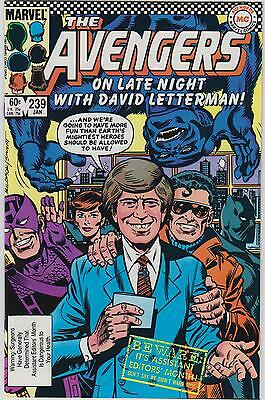 Lot 2: The Avengers #239 (1984)- David Letterman Cover (High Grade)