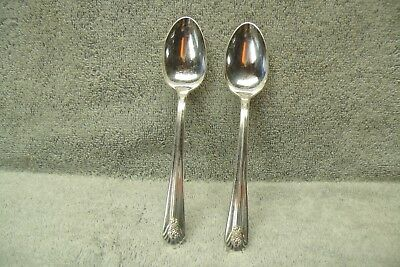 Teaspoon Lot of 2 IMPERIAL 1939  WM Rogers Silverplate