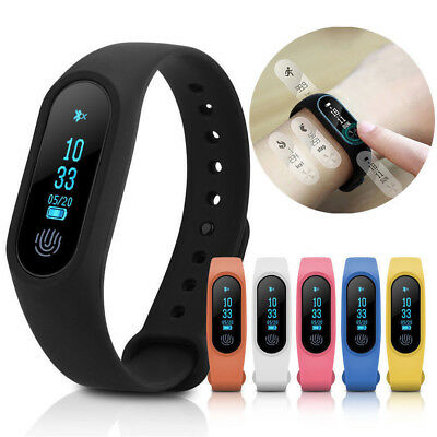 2018 Waterproof IP67 Band 2 M2 Smart Watch Heart Rate Monitor Fitness Tracker