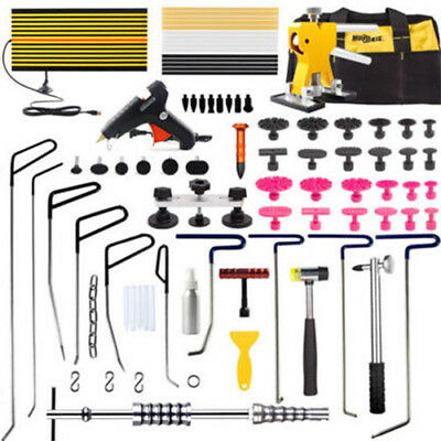 PDR Tools Repair Hail Puller Rods Paintless Dent Removal Glue Gun Hammer Tab Kit