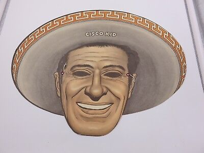 1953 Cisco Kid & Pancho Kids Masks Tip Top Bread Advertising Cowboy Wild West