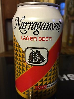 Narragansett Lager Beer 1975 Retro Label Jaws Can Movie Quint Shark