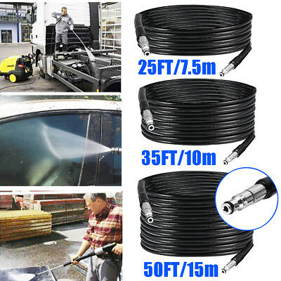 25/35/50ft 3000PSI High Pressure Hose Extension Washer Replacement Hose