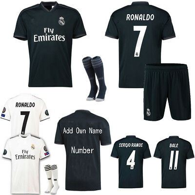 18/19 Ronaldo Football Soccer Jerse Kit Sportswear 3-14Y Kid Boys Club Team Suit