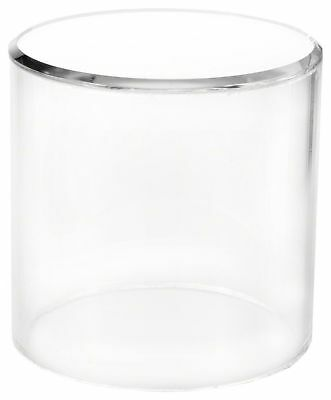 """Plymor Brand Clear Acrylic Cylinder Display Riser w/Mirror Top, 4"""" H x 4"""" D New"""