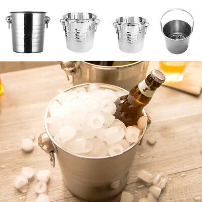 Metal Champagne Ice Bucket Stainless Steel Beer Wine Drink Cooler Party