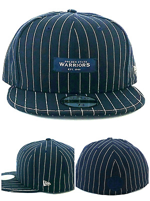 brand new 5de1b 15432 Golden State Warriors New Era 59Fifty Blk Label Navy Blue White Fitted Hat  7 1