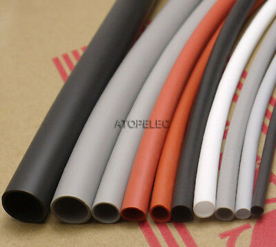 1M Flexible Soft 1.7:1 Silicone Heat Shrink Tubing Wrap Wire 200℃ 2500V