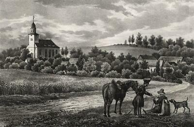 FROHNSORF - Sachsens Kirchen-Galerie - Lithographie 1848