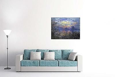 ArtPlaza Monet Claude Sunset On the Seine Pannello Decorativo Legno Multicolore