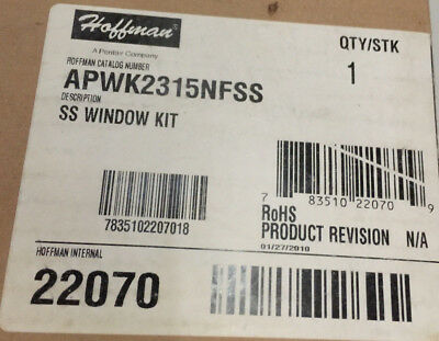 Hoffman A-PWK2315NFSS Window Kit - New (2 AVAIL.)