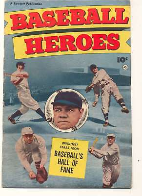 Baseball Heroes #1 in Fine minus condition. Fawcett comics