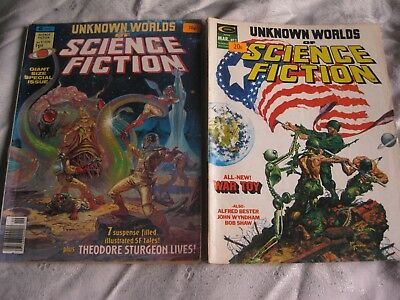 Unknown Worlds of Science Fiction #s 2-6 (1975) plus Giant size Special (1976)