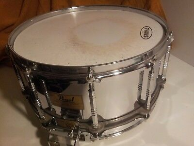 """PEARL """"Free Floating"""" Snare 14"""" x 6,5"""" Steel Shell Japan 1.Serie"""