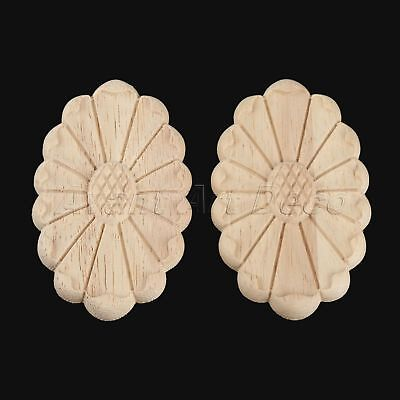 Fashion Carved Decal Onlay Applique Woodcarving Door Drawer Mouldings Decoration
