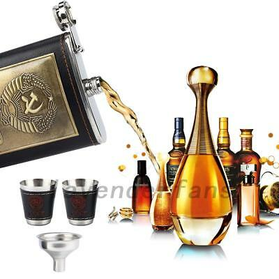 8 Oz Camping Hiking Whisky Wine Hip Flask With Funnel + 2 Cups Birthday Gift