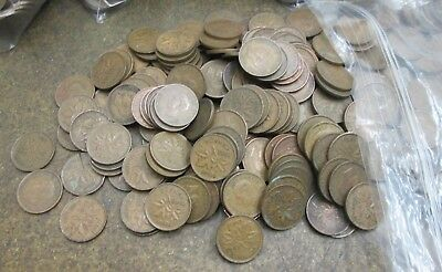 Lot of 300 Canada George VI One Cent Coins No Reserve