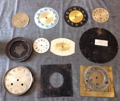Antique Clock Dials Faces Collection Spare Parts Ex Clockmakers Spare Parts