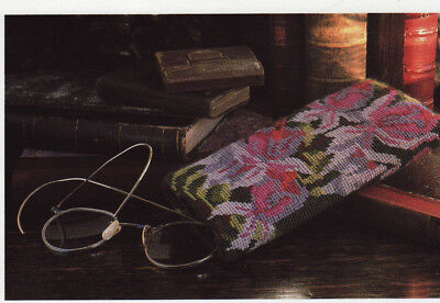 Fuchsia Spectacles Case Nancy Kimmins Needlepoint Chart in Colour Tapestry