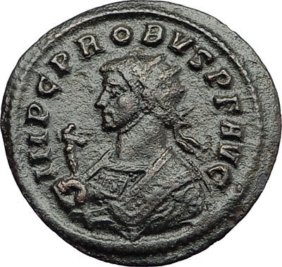 PROBUS Genuine 281AD Ticinum Authentic Ancient Roman Coin SALUS Health i70745