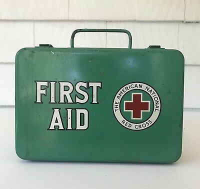 Vintage American Red Cross First Aid Kit with Original Contents