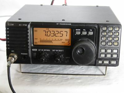 U4092 USED ICOM IC-718 100 Watt HF Transceiver with DSP Ham Radio