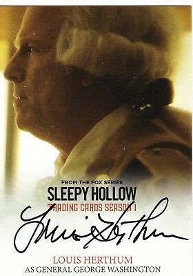Sleepy Hollow season 1 Washington (Louis Herthum) autograph card