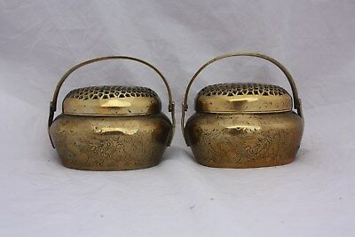 Pair of 19th Century Chinese Paktong Hand Warmers