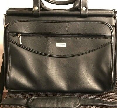 Us Luggage New York Black Leather Briefcase Attache Professional Computer Bag