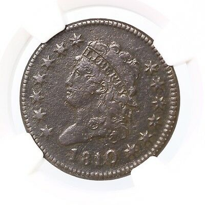 1810/09 Classic Head 1C S-281 NGC Certified VF Details Environmental Damage