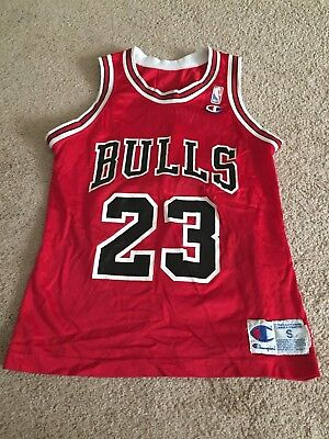 buy popular e3bcd 6fc78 Michael Jordan Chicago Bulls Champion Retro Throwback Nba Jersey Mens Small