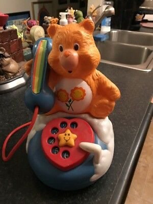 Vintage Care Bears 1985  Friend Bear Toy Phone