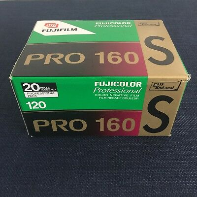 Fuji Pro 160S 120 film - 20 rolls in sealed box - never opened - expired 12/2006