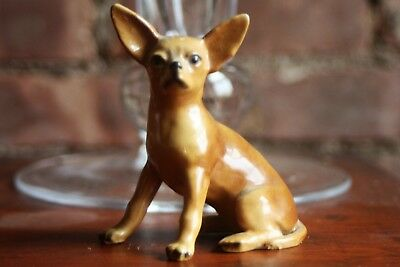 "Vintage Mortens Studio Seated Chihuahua - 3.5"" Tall"
