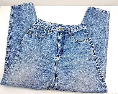 Womens VINTAGE High rise jeans FABRIZIO 80S/90S  mom jeans acid wash tapered