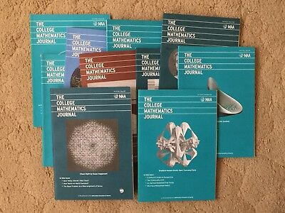 The College Mathematics Journal. all issues from 2012 and 2013. Free shipping!