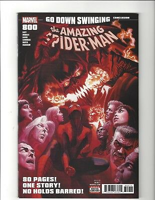 AMAZING SPIDER MAN #800 Regular Cvr ALEX ROSS NEAR MINT MARVEL COMICS Red Goblin