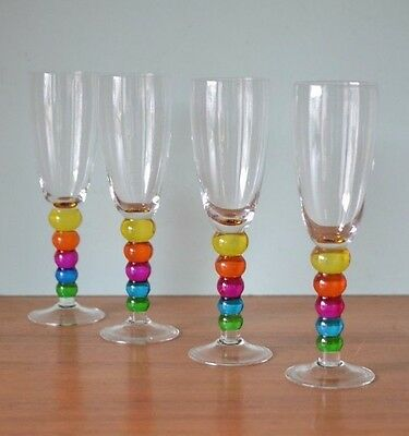 Vintage wine glasses  multicoloured barware drinking alcohol champagne  YLBT1