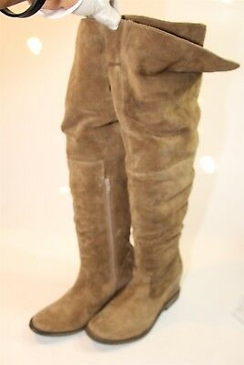 9963b0d679a Matisse Stephen Womens 40 9 M Brown Suede Leather Over Knee OTK Slouch Boots  pn